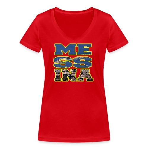 MESSINA YELLOW - T-shirt ecologica da donna con scollo a V di Stanley & Stella