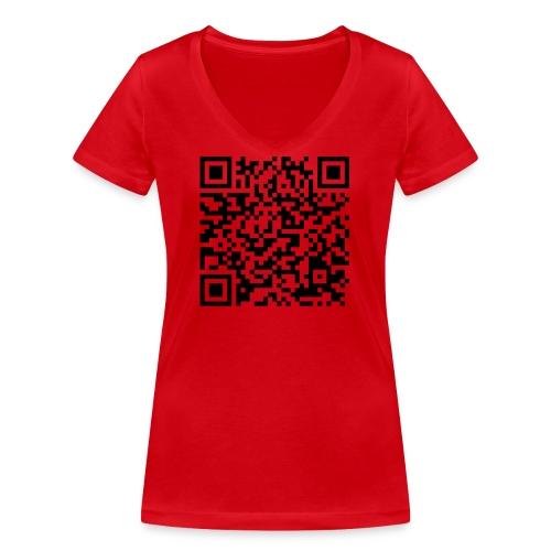 static qr code without logo2 png - T-shirt ecologica da donna con scollo a V di Stanley & Stella