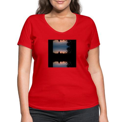 Sonnenhorizont Spiegelung Heller - Frauen Bio-T-Shirt mit V-Ausschnitt von Stanley & Stella
