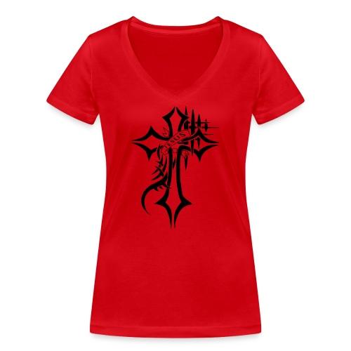 cross - Økologisk T-skjorte med V-hals for kvinner fra Stanley & Stella