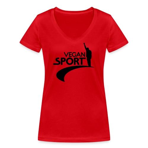 vegansport01_225x225 - Frauen Bio-T-Shirt mit V-Ausschnitt von Stanley & Stella