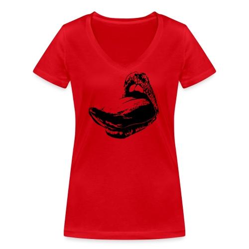 langue femme - T-shirt bio col V Stanley & Stella Femme