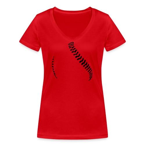 Baseball - Women's Organic V-Neck T-Shirt by Stanley & Stella