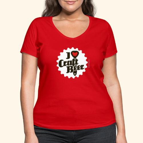 Craft Beer T-Shirt Design I Love Craft Beer - Frauen Bio-T-Shirt mit V-Ausschnitt von Stanley & Stella