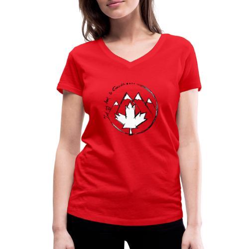 Canada - Frauen Bio-T-Shirt mit V-Ausschnitt von Stanley & Stella