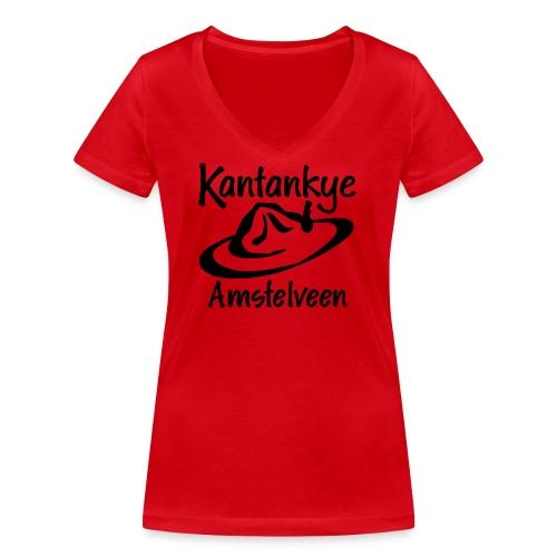 logo naam hoed amstelveen - Vrouwen bio T-shirt met V-hals van Stanley & Stella