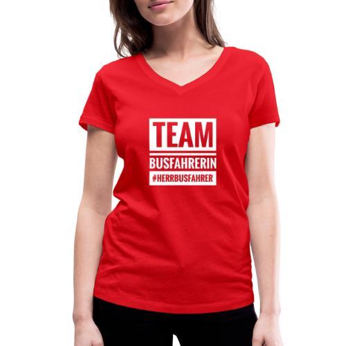 Team Busfahrerin #herrbusfahrer - Frauen Bio-T-Shirt mit V-Ausschnitt von Stanley & Stella