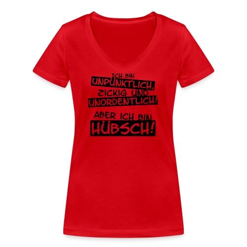 Ich bin hübsch! - Frauen Bio-T-Shirt mit V-Ausschnitt von Stanley & Stella
