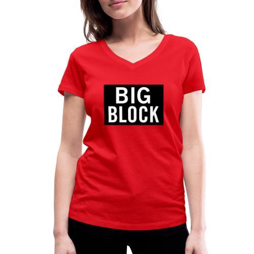 Big Block - Ekologisk T-shirt med V-ringning dam från Stanley & Stella