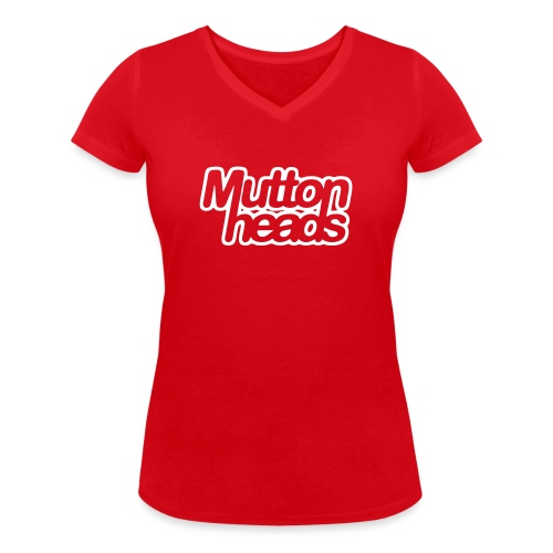 mths logo nb - Women's Organic V-Neck T-Shirt by Stanley & Stella