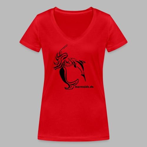 Mermaids Seejungfrau und Delphin - Frauen Bio-T-Shirt mit V-Ausschnitt von Stanley & Stella