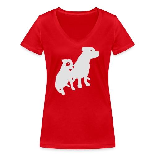 Doggy / zwei brave Hunde zum verschenken - Frauen Bio-T-Shirt mit V-Ausschnitt von Stanley & Stella