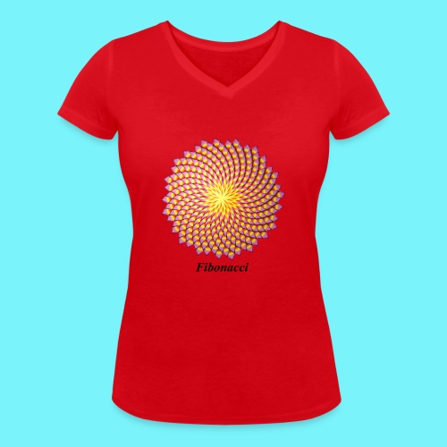 Fibonacci flower - Women's Organic V-Neck T-Shirt by Stanley & Stella