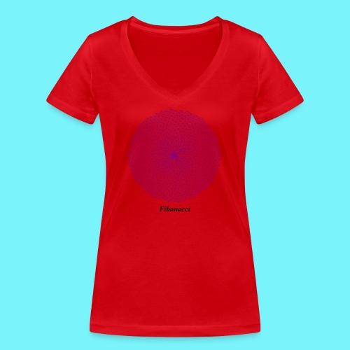 Fibonacci webs in purple - Women's Organic V-Neck T-Shirt by Stanley & Stella