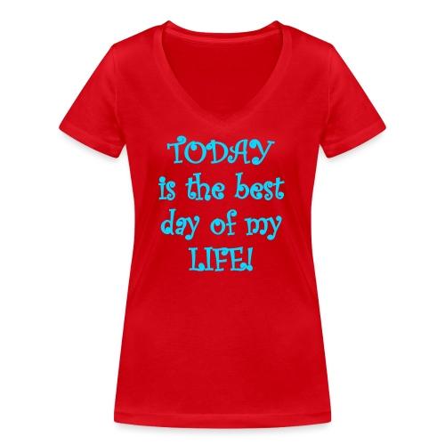 Carpe Diem 21.2 - Frauen Bio-T-Shirt mit V-Ausschnitt von Stanley & Stella