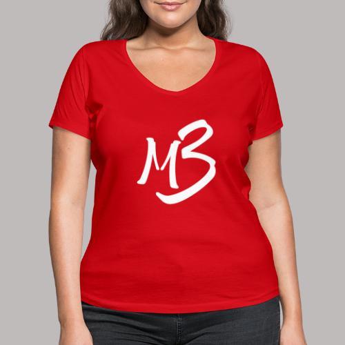 MB 13 white - Women's Organic V-Neck T-Shirt by Stanley & Stella