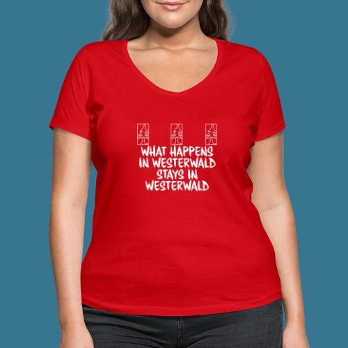 What Happens, Stays - Frauen Bio-T-Shirt mit V-Ausschnitt von Stanley & Stella