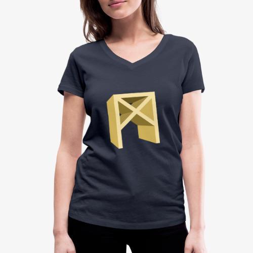 Rune Mannaz - Frauen Bio-T-Shirt mit V-Ausschnitt von Stanley & Stella