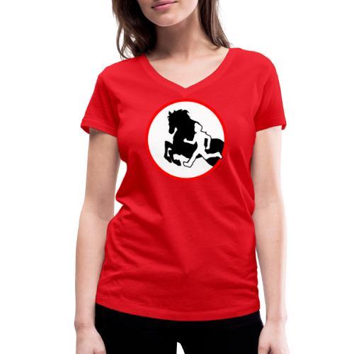 Horse Agility Logo - Frauen Bio-T-Shirt mit V-Ausschnitt von Stanley & Stella