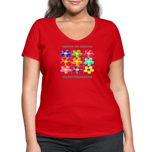 logo of my #MultiDimensionalMotors blog - T-shirt ecologica da donna con scollo a V di Stanley & Stella