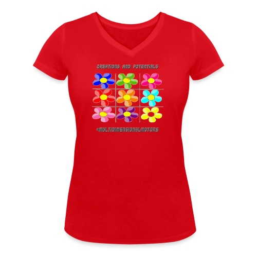logo of my #MultiDimensionalMotors blog - T-shirt ecologica da donna con scollo a V di Stanley & Stella