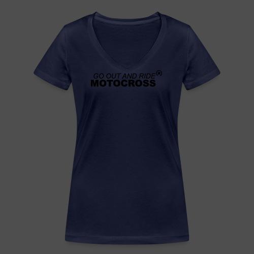 ride motocross bk - Frauen Bio-T-Shirt mit V-Ausschnitt von Stanley & Stella