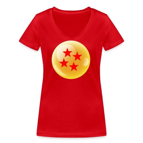 Bola dorada - Camiseta ecológica mujer con cuello de pico de Stanley & Stella