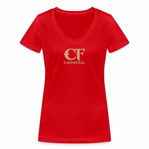 Caepiofilia Arena - Camiseta ecológica mujer con cuello de pico de Stanley & Stella