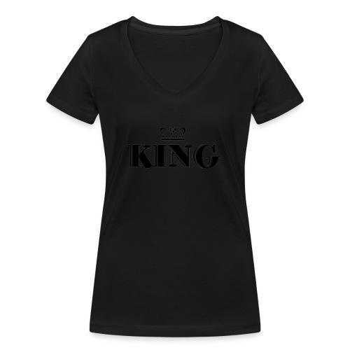 King - Frauen Bio-T-Shirt mit V-Ausschnitt von Stanley & Stella