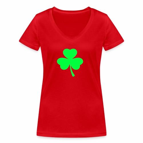 suerte - Camiseta ecológica mujer con cuello de pico de Stanley & Stella