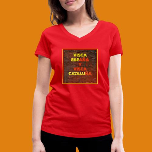 SPAIN AND CATALONIA - Women's Organic V-Neck T-Shirt by Stanley & Stella
