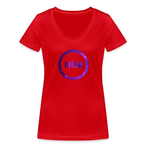 NEM OWNER - Stanley & Stellan naisten v-aukkoinen luomu-T-paita