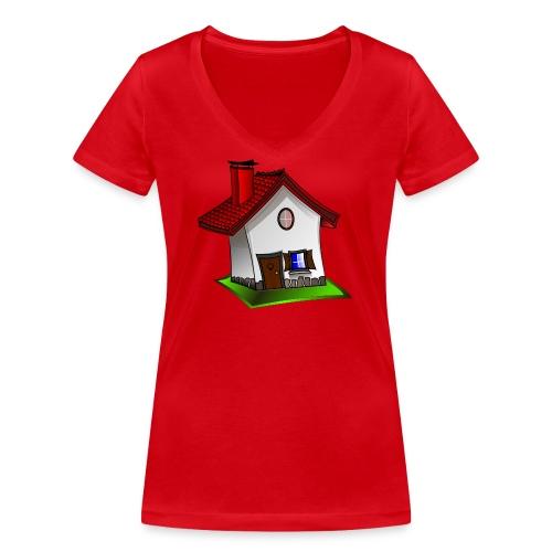 Haus - Frauen Bio-T-Shirt mit V-Ausschnitt von Stanley & Stella