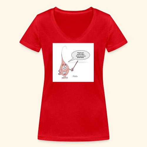Estetica - T-shirt ecologica da donna con scollo a V di Stanley & Stella