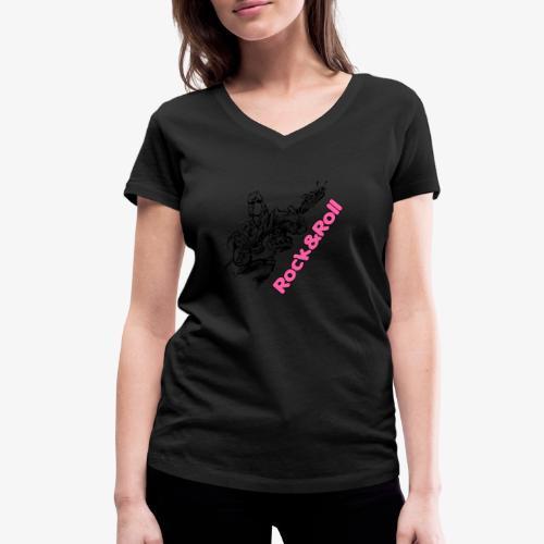Rock 001 - Camiseta ecológica mujer con cuello de pico de Stanley & Stella