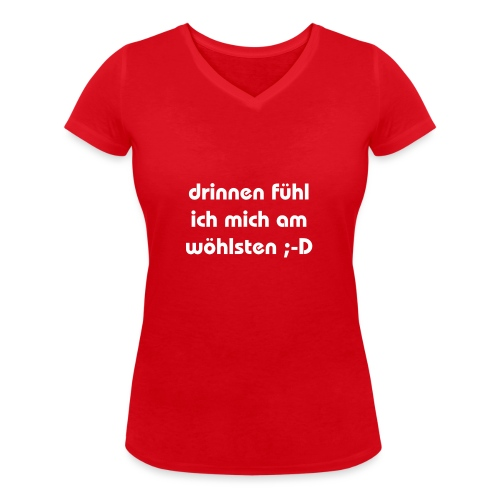 lustiger perverser text - Frauen Bio-T-Shirt mit V-Ausschnitt von Stanley & Stella