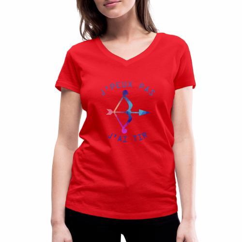 J'peux pas j'ai Tir - T-shirt bio col V Stanley & Stella Femme
