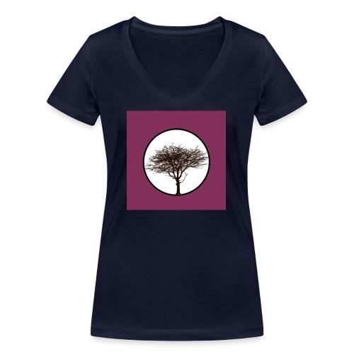 Baum in Kreis - Frauen Bio-T-Shirt mit V-Ausschnitt von Stanley & Stella
