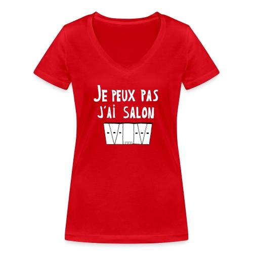 Je Peux pas j ai salon - T-shirt bio col V Stanley & Stella Femme