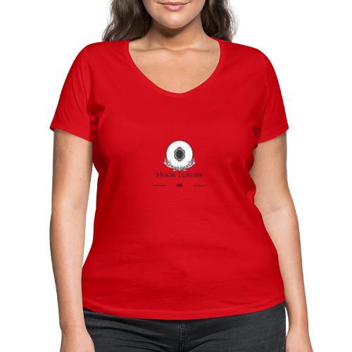 Diseño Diamantes - Camiseta ecológica mujer con cuello de pico de Stanley & Stella
