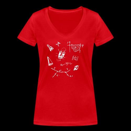 Doodles Weiss - Frauen Bio-T-Shirt mit V-Ausschnitt von Stanley & Stella