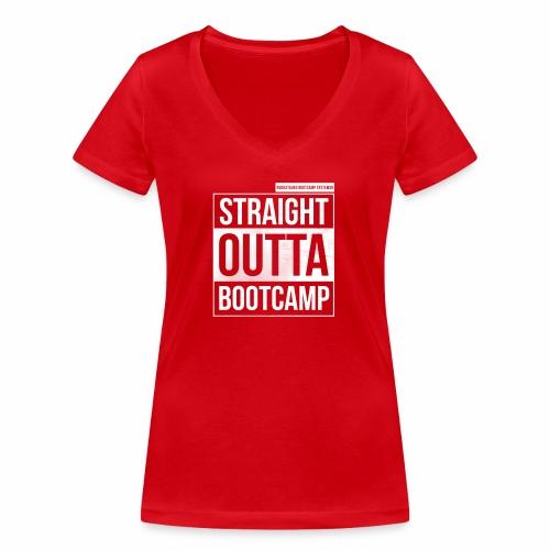 Suoraan Bootcampilta - Stanley & Stellan naisten v-aukkoinen luomu-T-paita