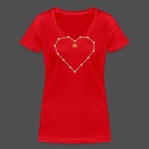 Herz 0HE01 - Women's Organic V-Neck T-Shirt by Stanley & Stella