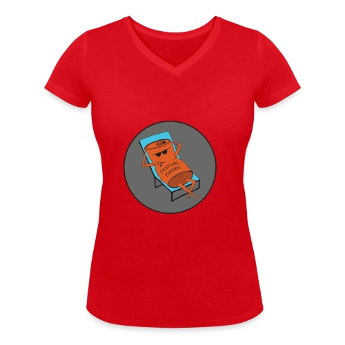 Festivalpodden - Loggan - Ekologisk T-shirt med V-ringning dam från Stanley & Stella