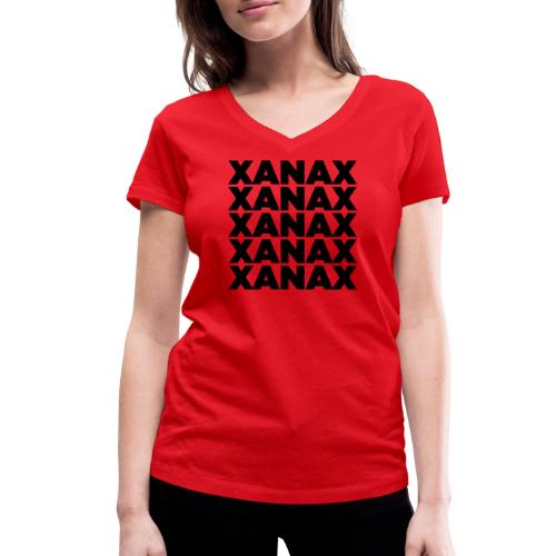 XANAX - B - T-shirt ecologica da donna con scollo a V di Stanley & Stella