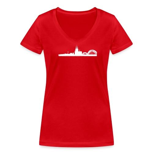Köln-Skyline - Frauen Bio-T-Shirt mit V-Ausschnitt von Stanley & Stella