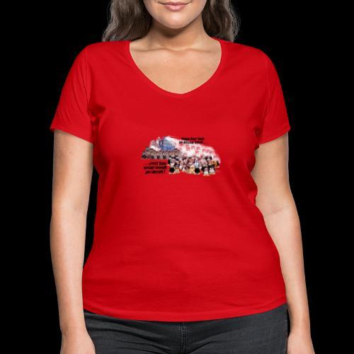 tux demo - Frauen Bio-T-Shirt mit V-Ausschnitt von Stanley & Stella