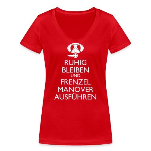 Ruhig bleiben und Frenzel Manöver ausführen - Frauen Bio-T-Shirt mit V-Ausschnitt von Stanley & Stella