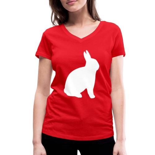 T-shirt personnalisable avec votre texte (lapin) - T-shirt bio col V Stanley & Stella Femme