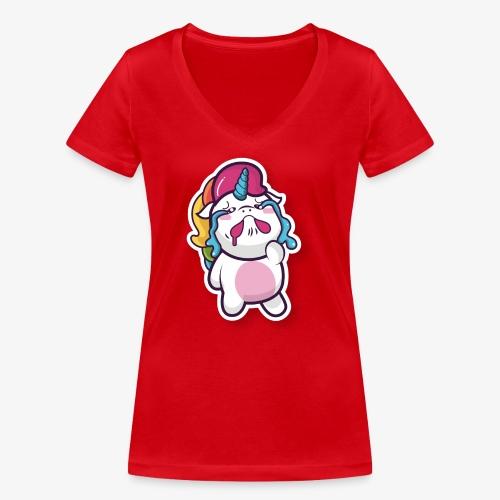 Funny Unicorn - Women's Organic V-Neck T-Shirt by Stanley & Stella
